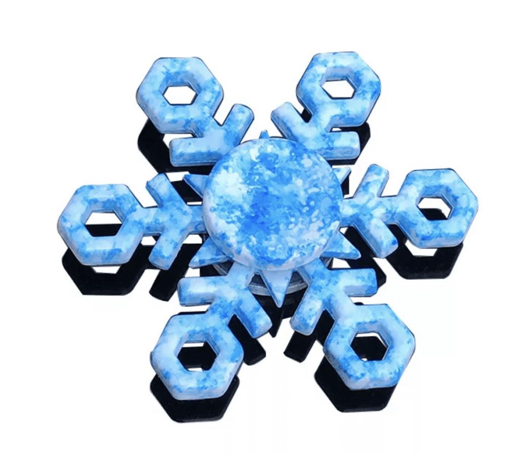 Спиннер снежинка